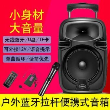 新科大功率便携式拉杆音响广场舞卡拉ok户外K歌录音蓝牙8寸音响
