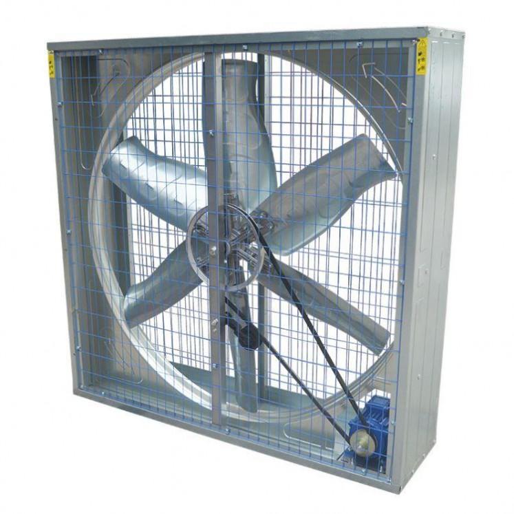 厂家直销负压风机工业排风扇1000型工业 双百叶式负压风机