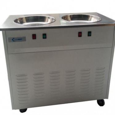 厂家批发 大功率 双平锅 炒冰机 商用 酸奶机 奶茶店冷饮设备