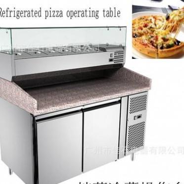 厂家批发 披萨冷藏操作台 Pizza refrigerator 可定 美国 110V