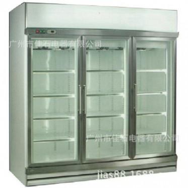 厂家直销便利店饮料展示柜  立式商用三门冰柜 冷藏超市啤酒柜