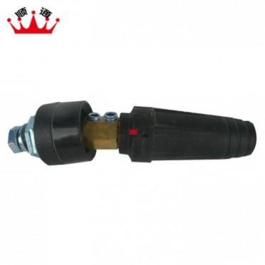 供应DKJ-90平方全铜欧式接头 技术争先 积极进取焊接电缆连接器 快速插头电焊机