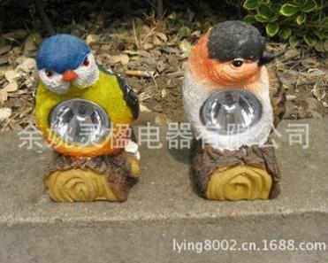 厂家直销太阳能迷你型小鸟灯 太阳能景观花园等